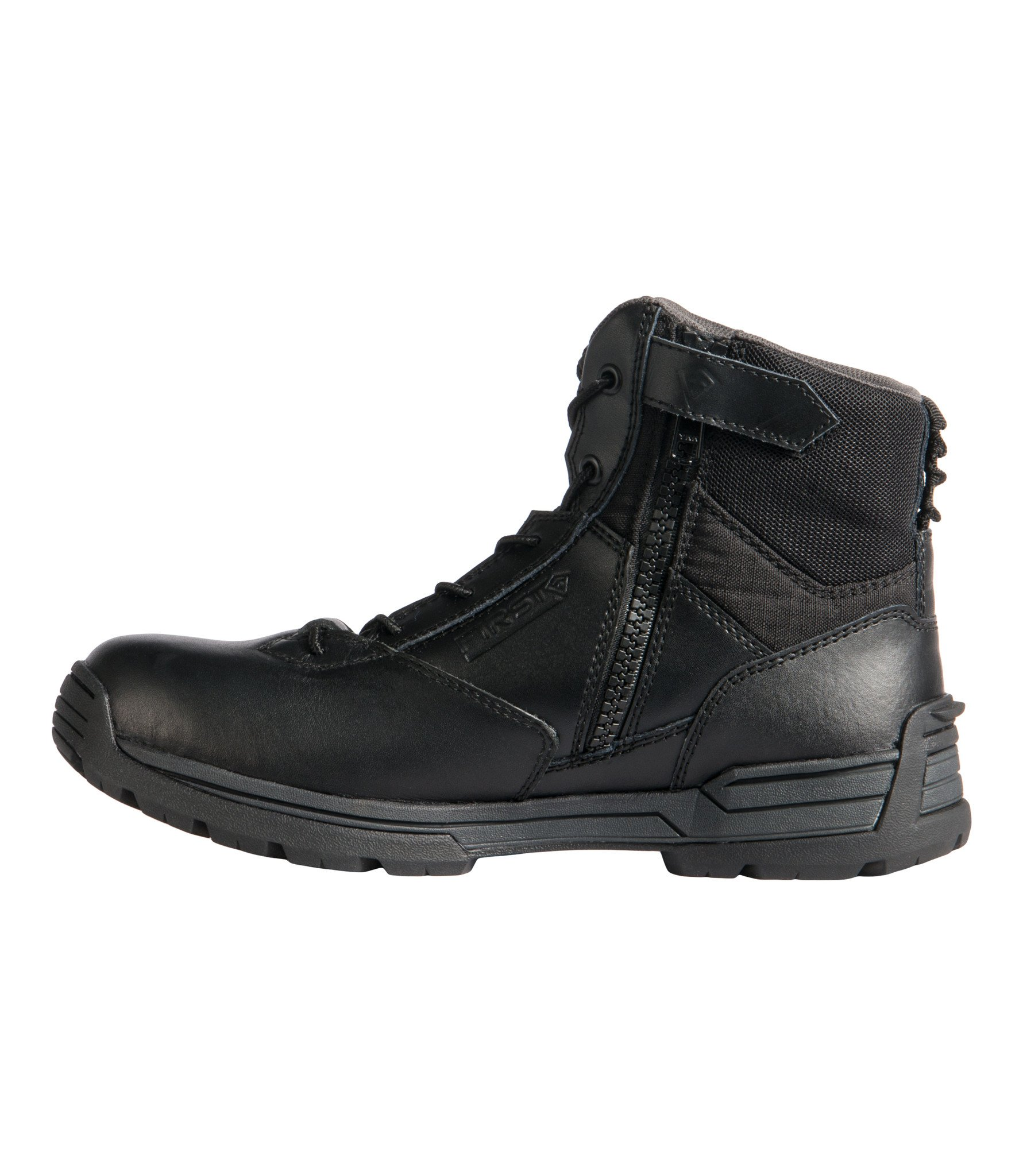 "Men's 6"" Side Zip Duty Boot (Black)"