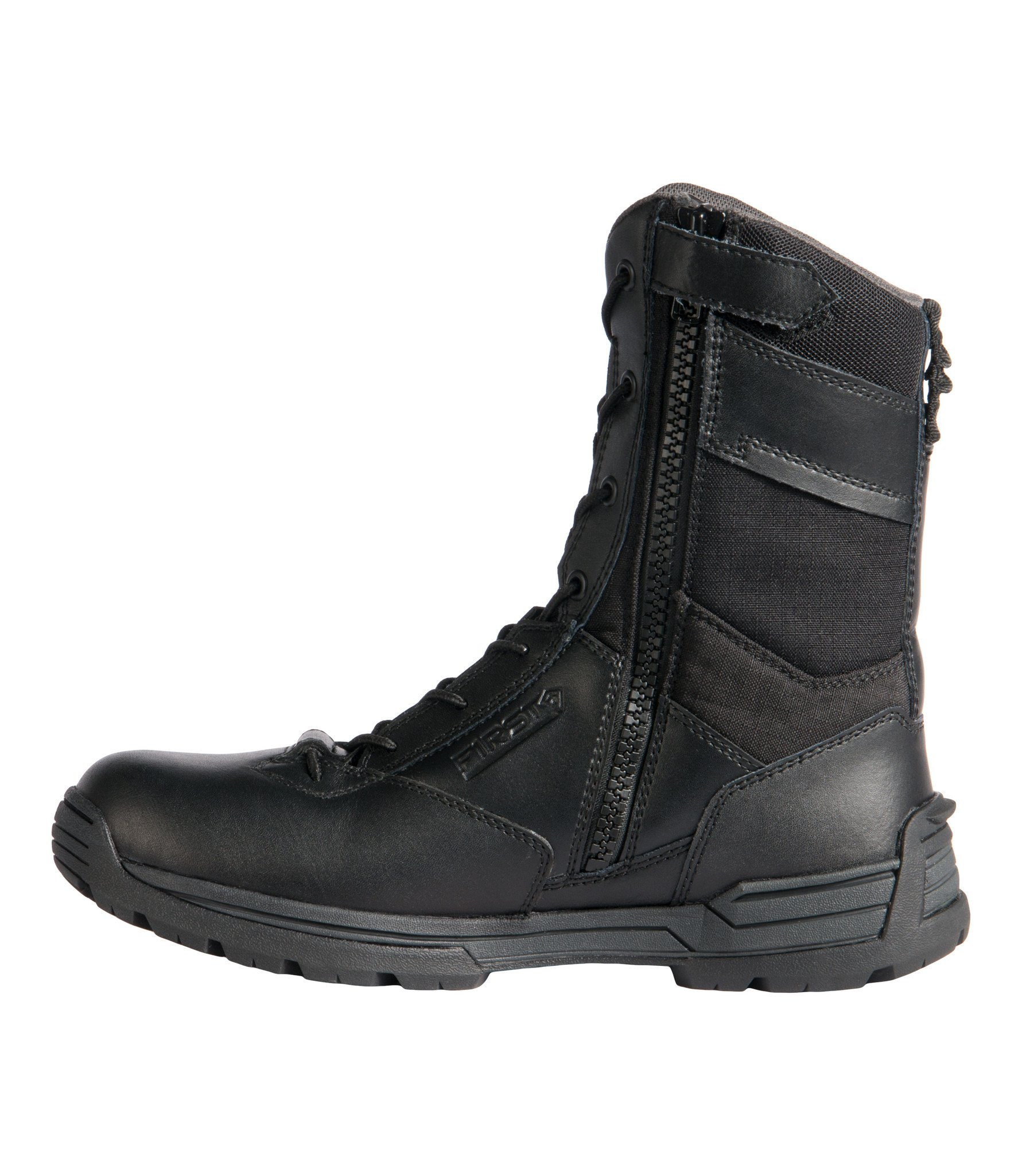 "Men's 8"" Side Zip Duty Boot (Black)"