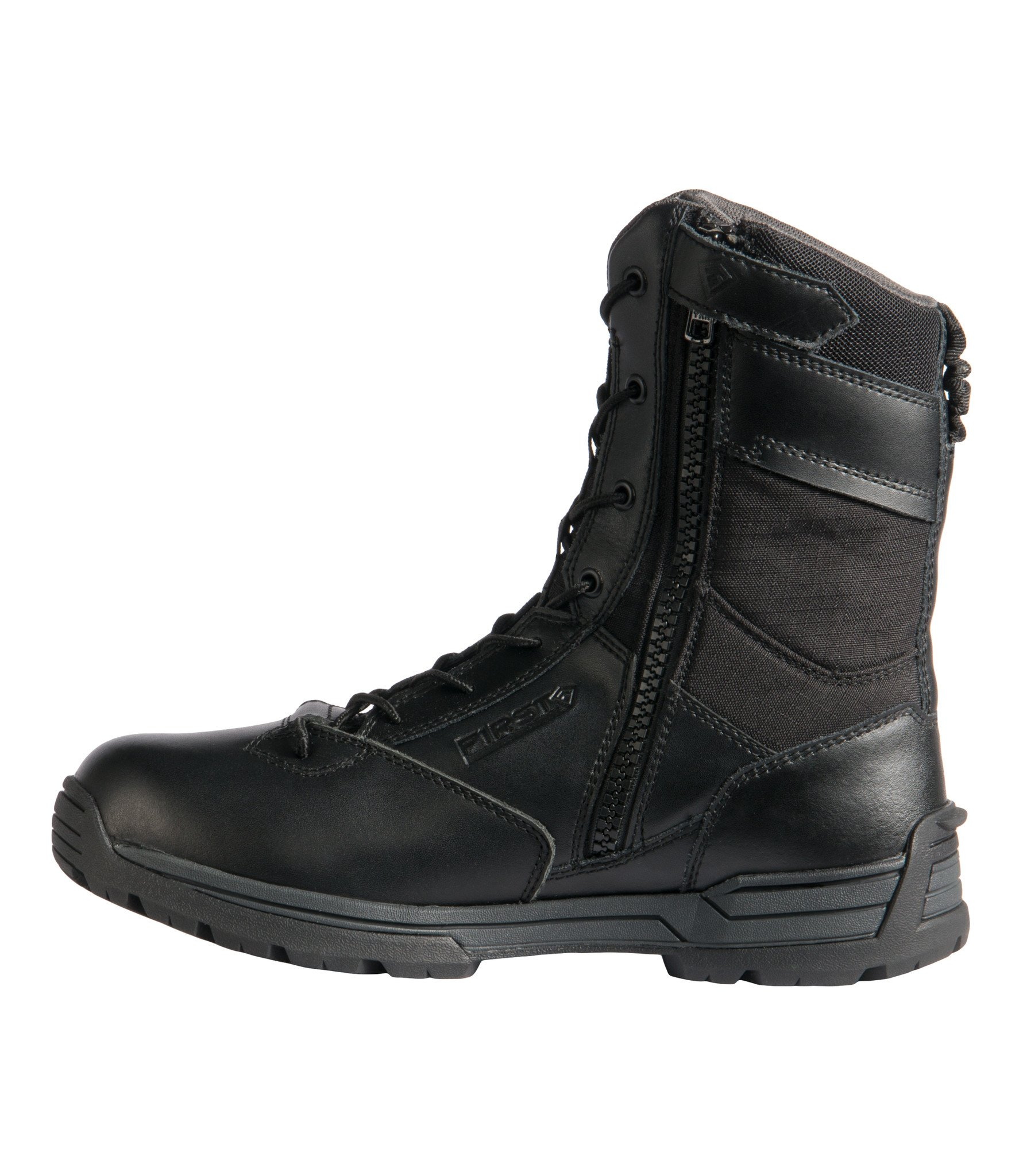 "Men's 8"" Waterproof Side Zip Duty Boot (Black)"